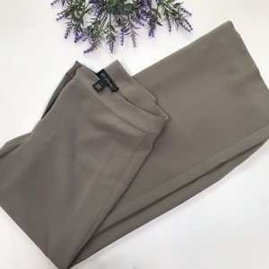 St John Solid Grey high Rise Wide Leg Dress Pants